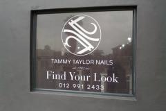 Redblock advertising media -  Shop window branding - One way vinyl
