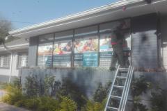 Redblock advertising media - Shopfront window signage