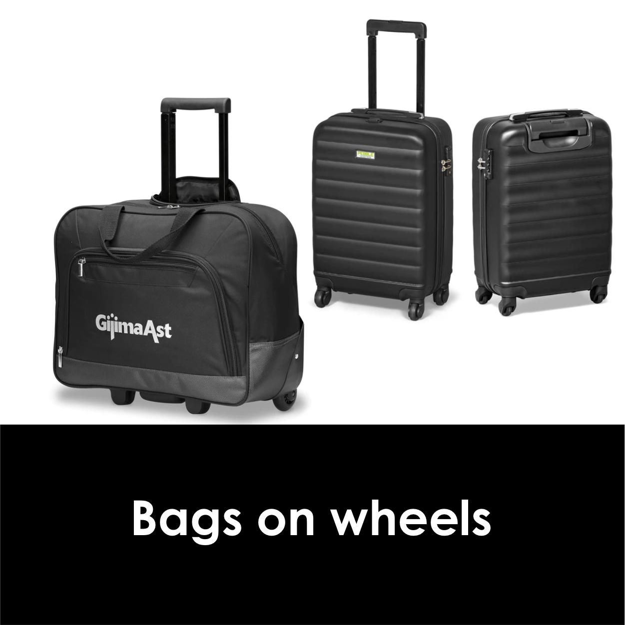 Redblock Advertising Media Bags on Wheels
