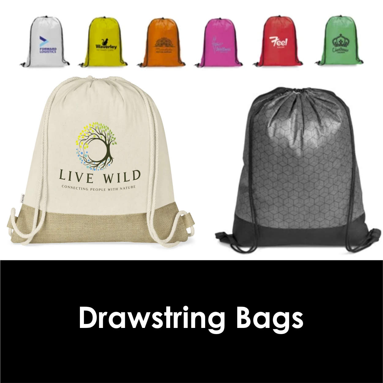 Redblock Advertising Media Drawstring Bags
